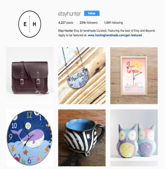 Get your Etsy store featured on @etsyhunter!