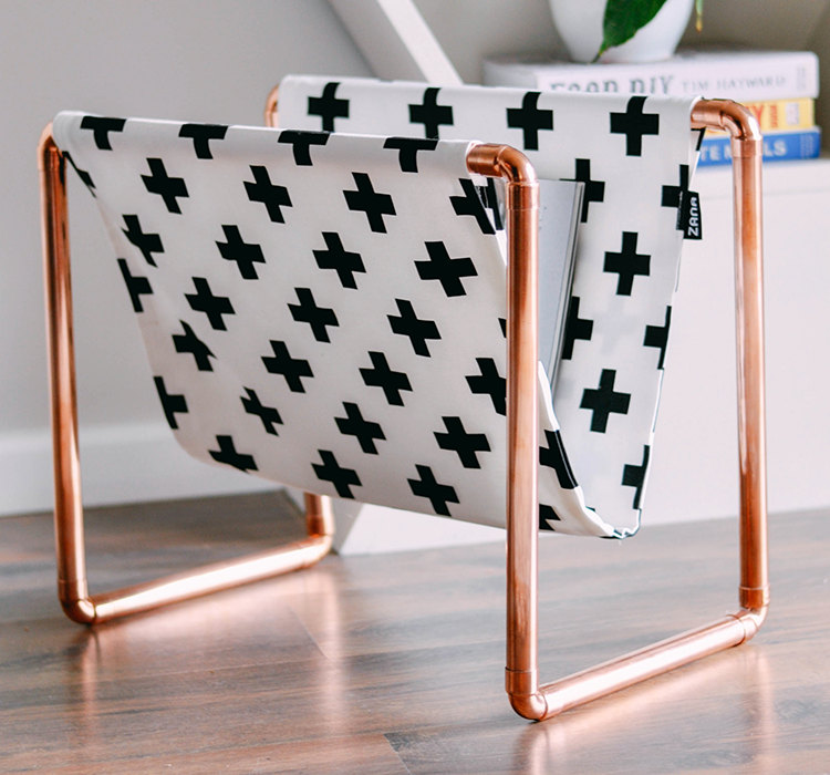 01 Swiss02 Copper Magazine Rack