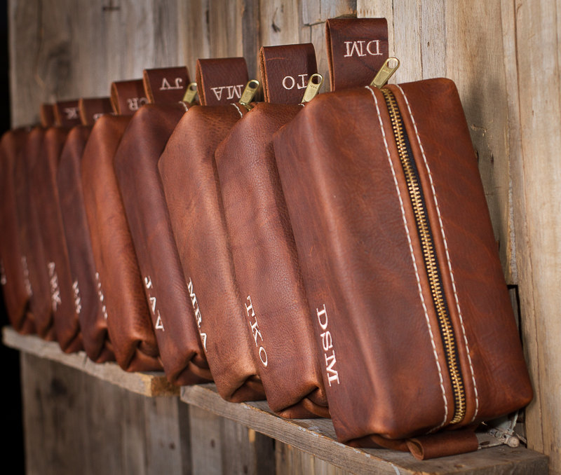 04 HANDMADE Mens Leather Toiletry Case