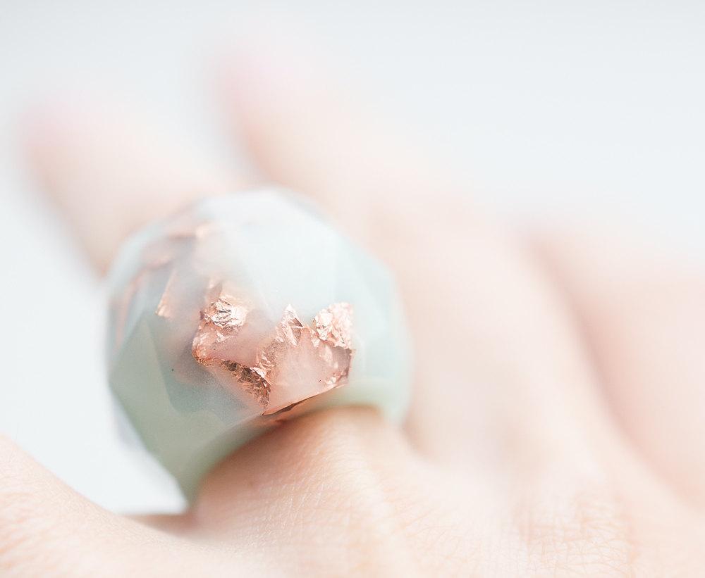 04 Pastel Mint Resin Ring