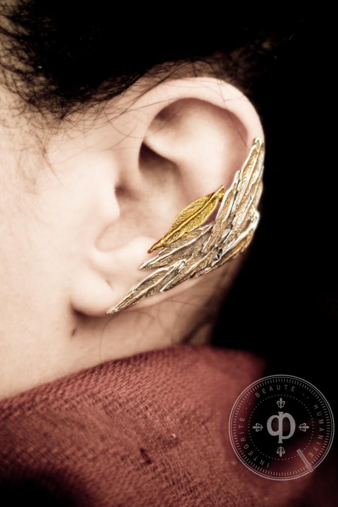 05 Feather Ear Cuff Earring