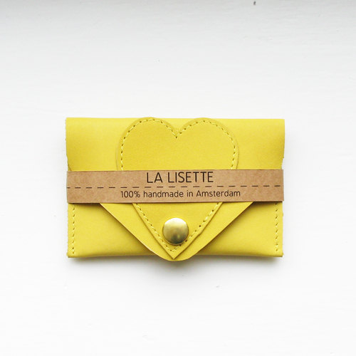 05 Yellow leather card case