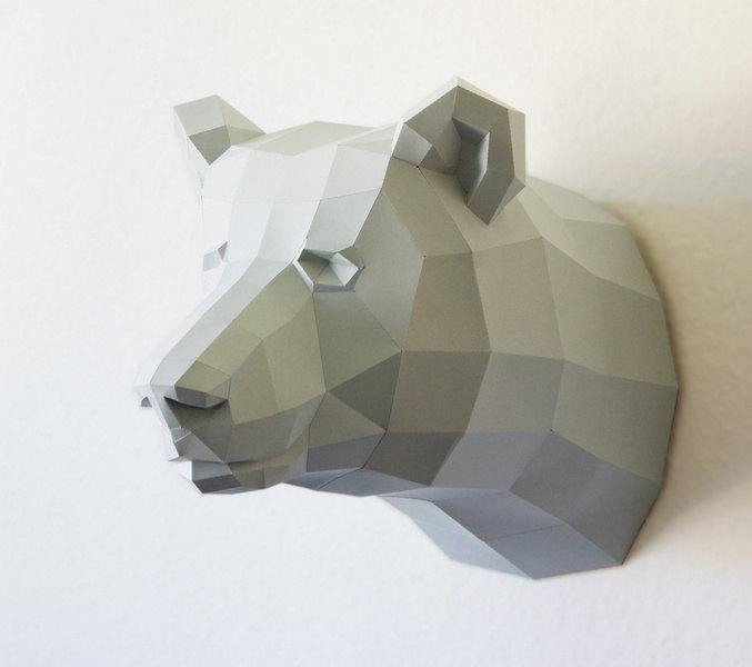 04 Papercraft template bear
