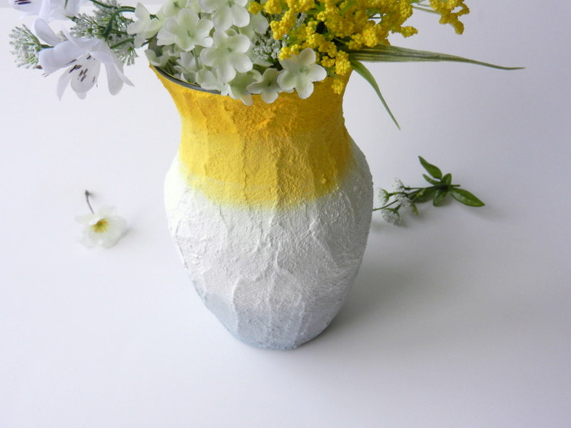 03 Yellow and grey ombre Vase