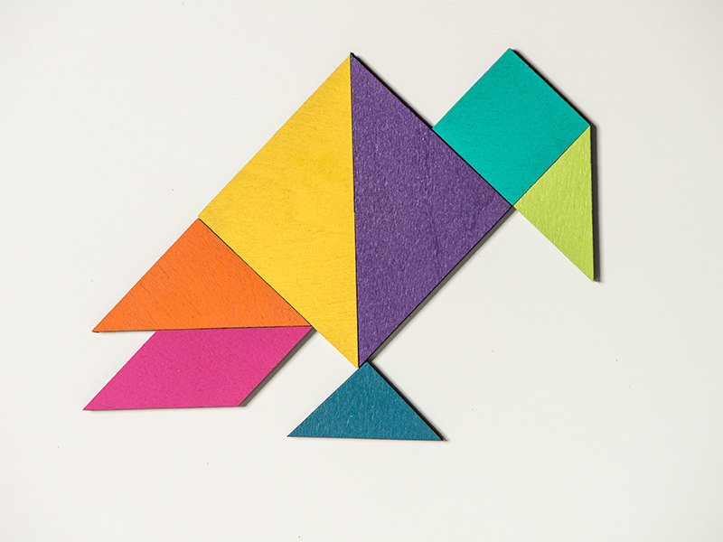 1 Tangram magnet set color