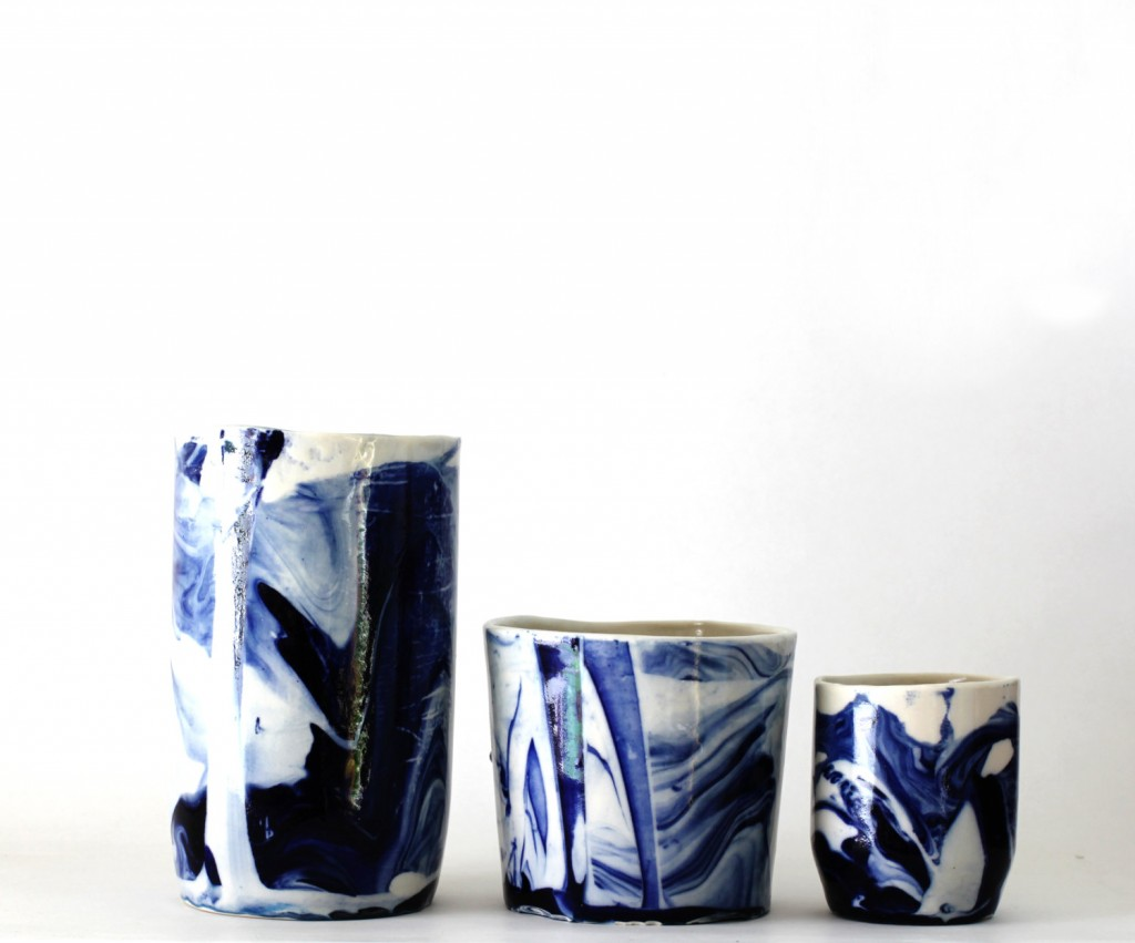 1 handmade porcelain containers