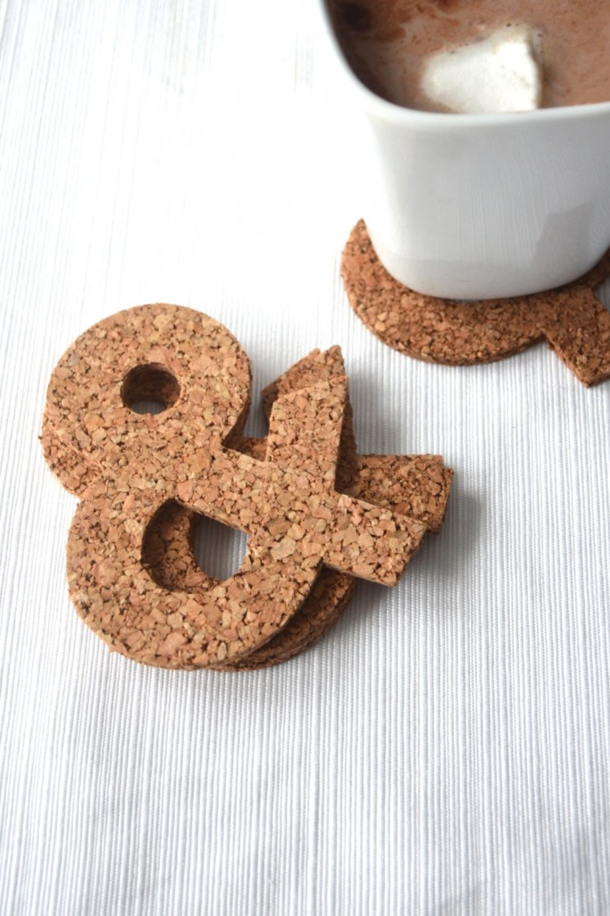 3 Ampersand Cork Coaster