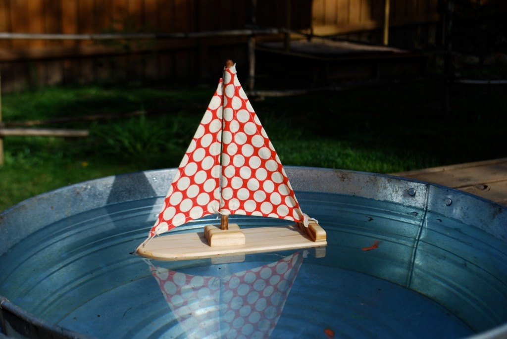 4 Dotty for You Wooden Sailboat