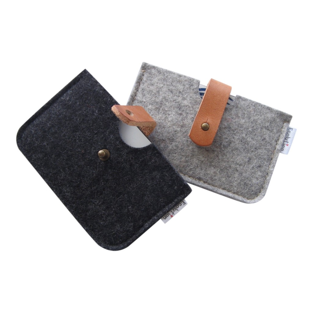 4 Minimalist Merino wool felt wallet