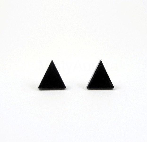 4 Triangle Stud Earrings