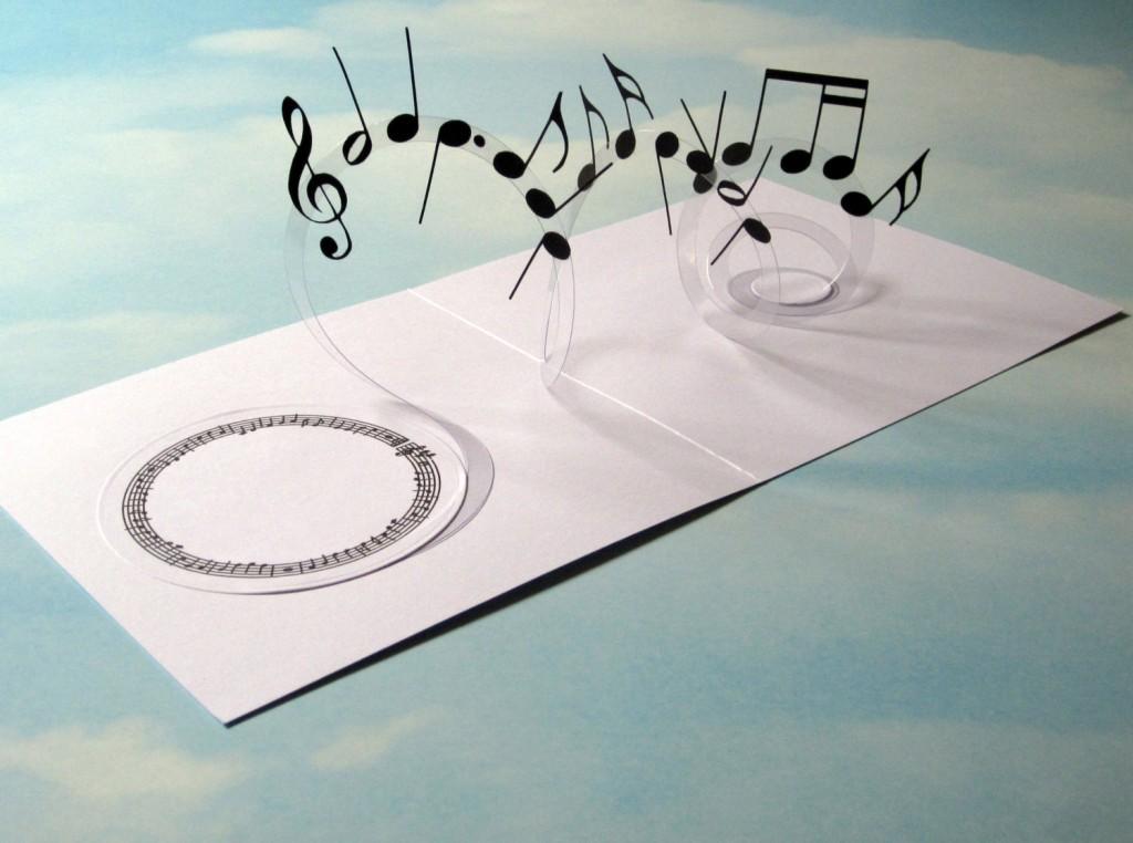 1 Music Card Spiral Pop Up