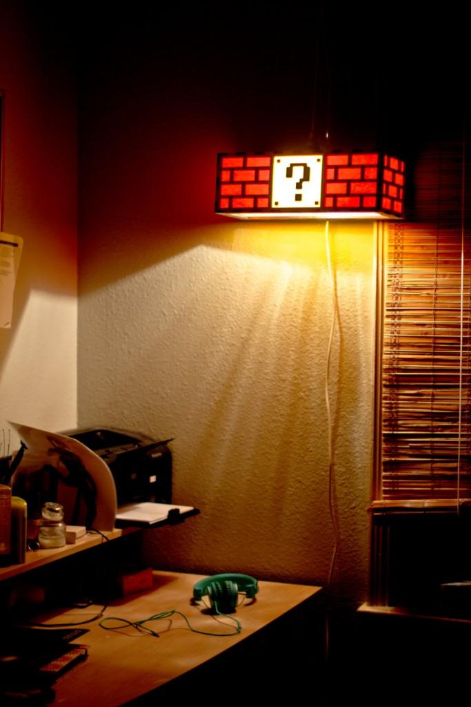 2 Colorful Mario Question Mark Block Lamp