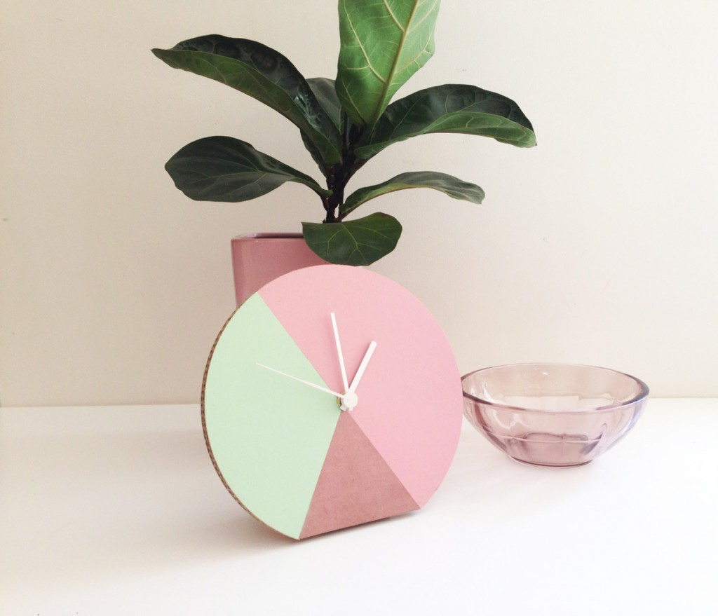 4 Geometric light pastel pink