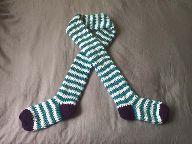 Made to order Funky Sock Tube Scarf