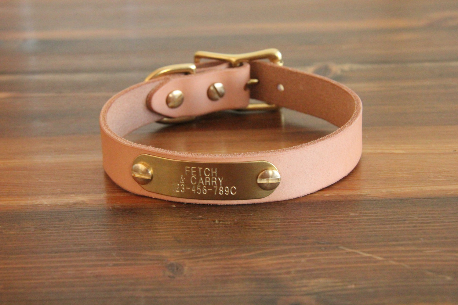 2 Clic Leather Dog Collar