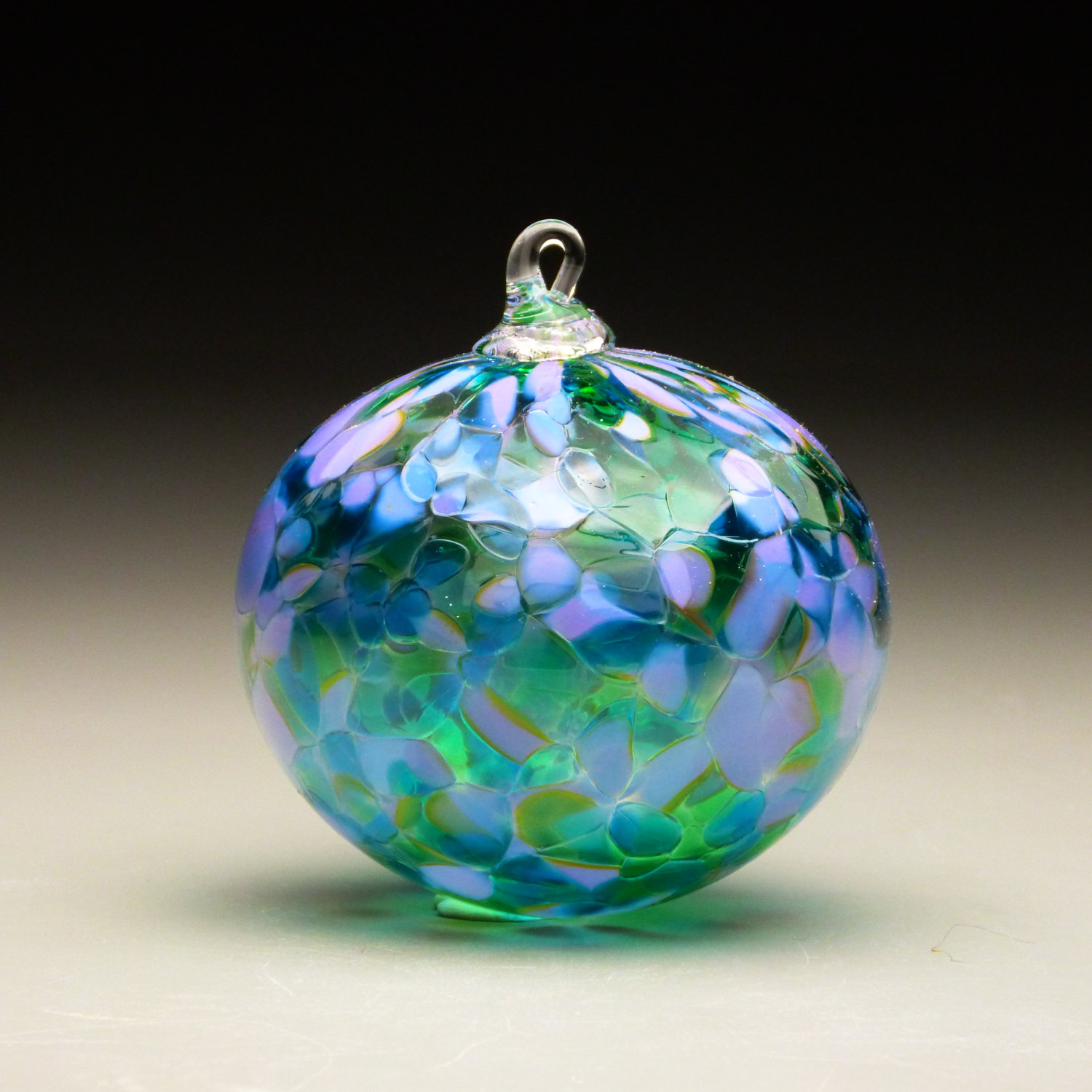 Handmade glass christmas ornaments - 3 Blown Glass Christmas Ornament