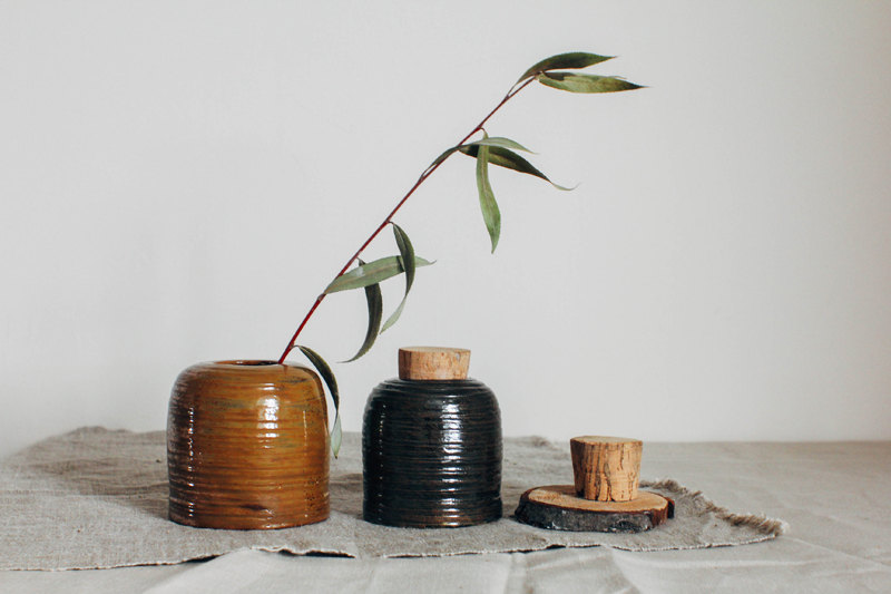 3 ceramic jar with lid