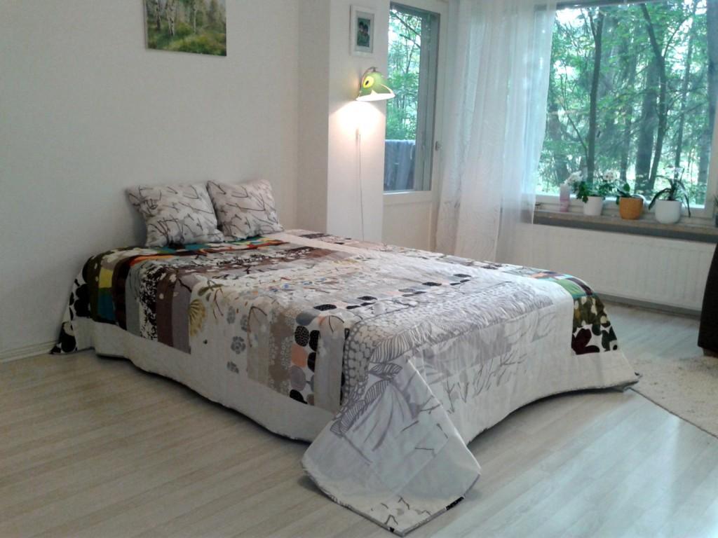 4 Modern quilt made from Marimekko fabric
