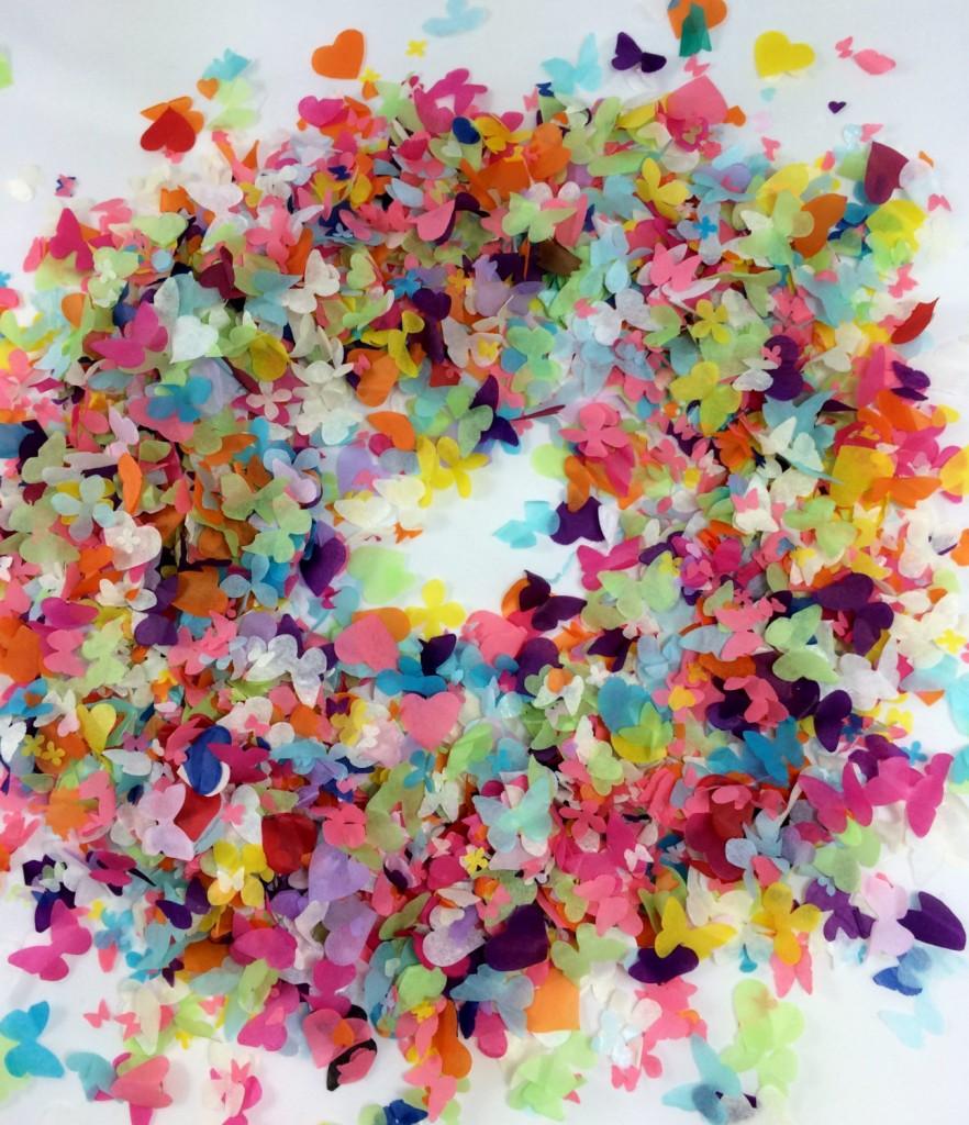 2 Rainbow Biodegradable Confetti