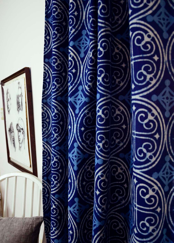 Cobalt blue curtain panels - 4 Indigo Curtains
