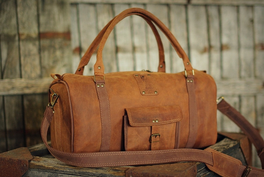 2 Leather Sports Bag