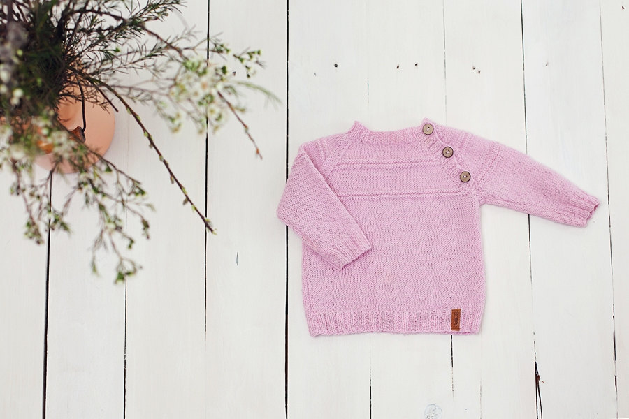 2 Pink baby sweater