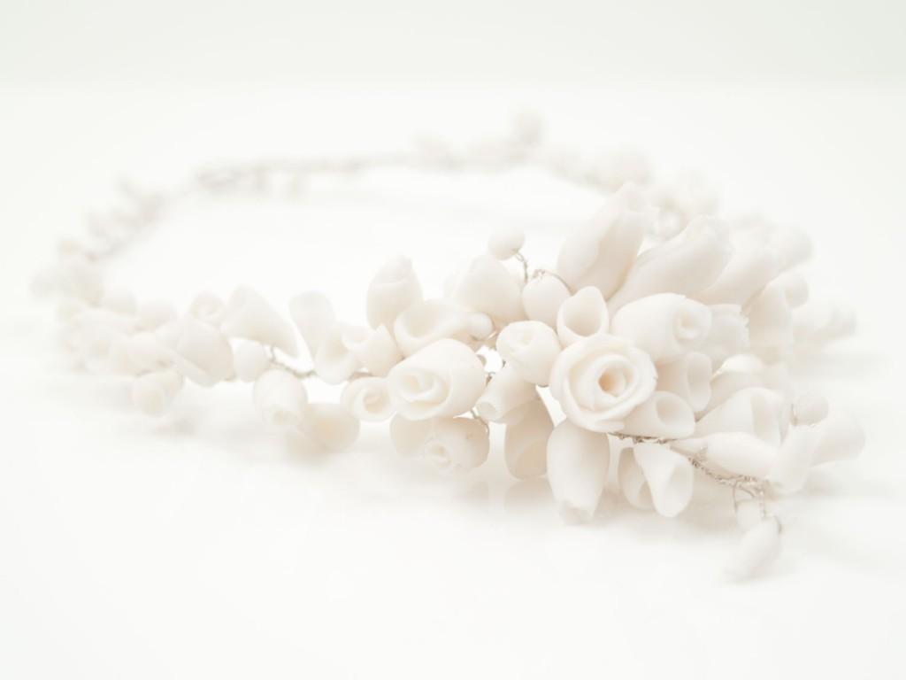 3 White Statement Necklace