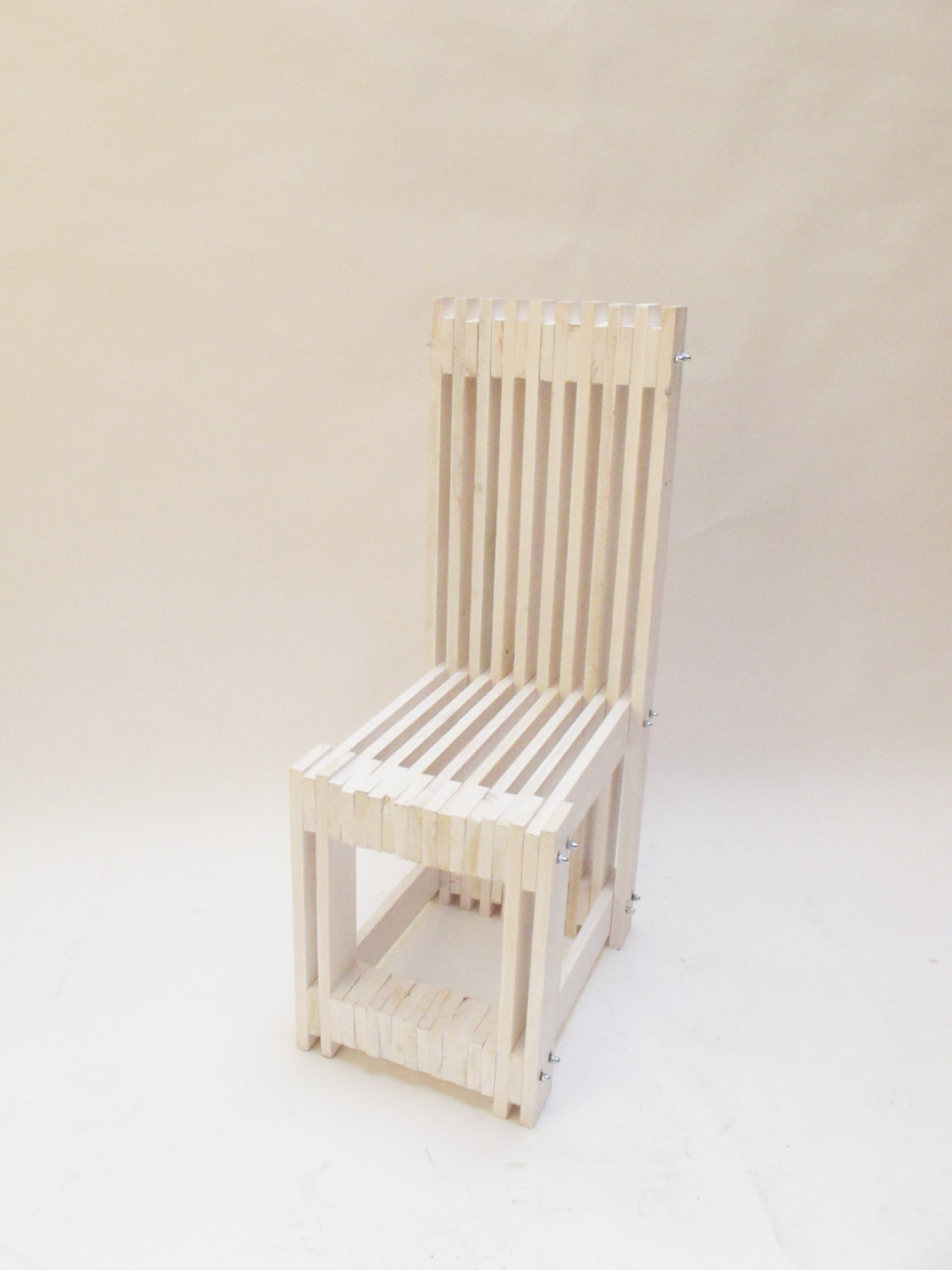 4 Pallet Chair white handcrafted by order