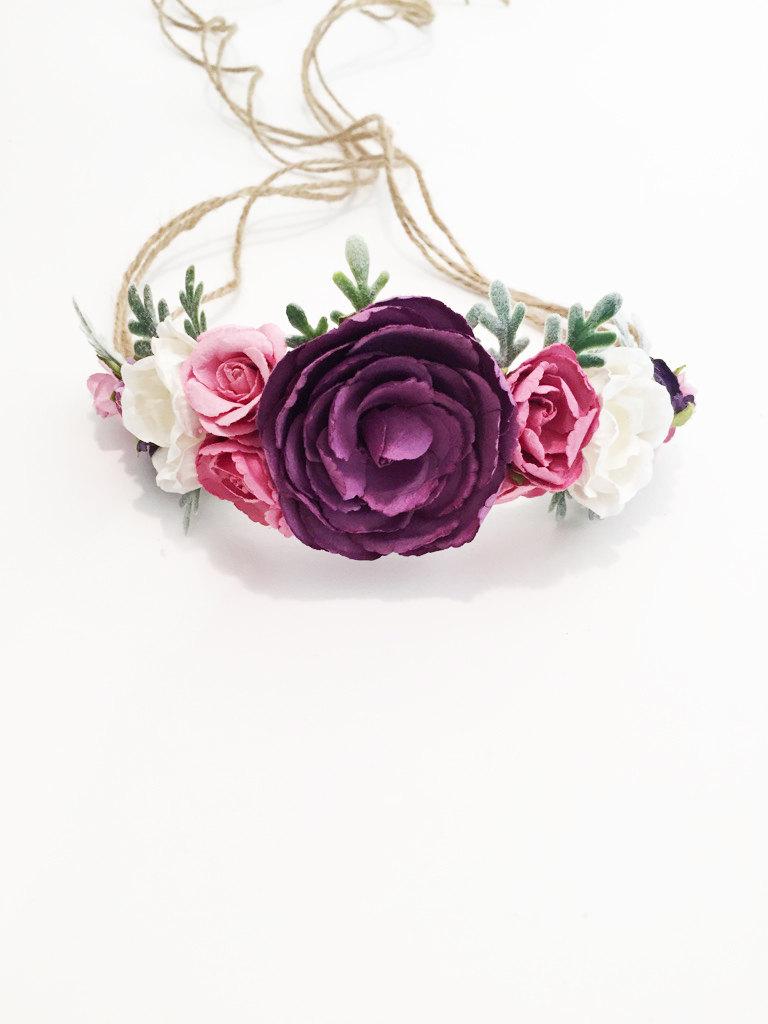 Handmade flower crowns hunting handmade 1 tieback flower crown izmirmasajfo