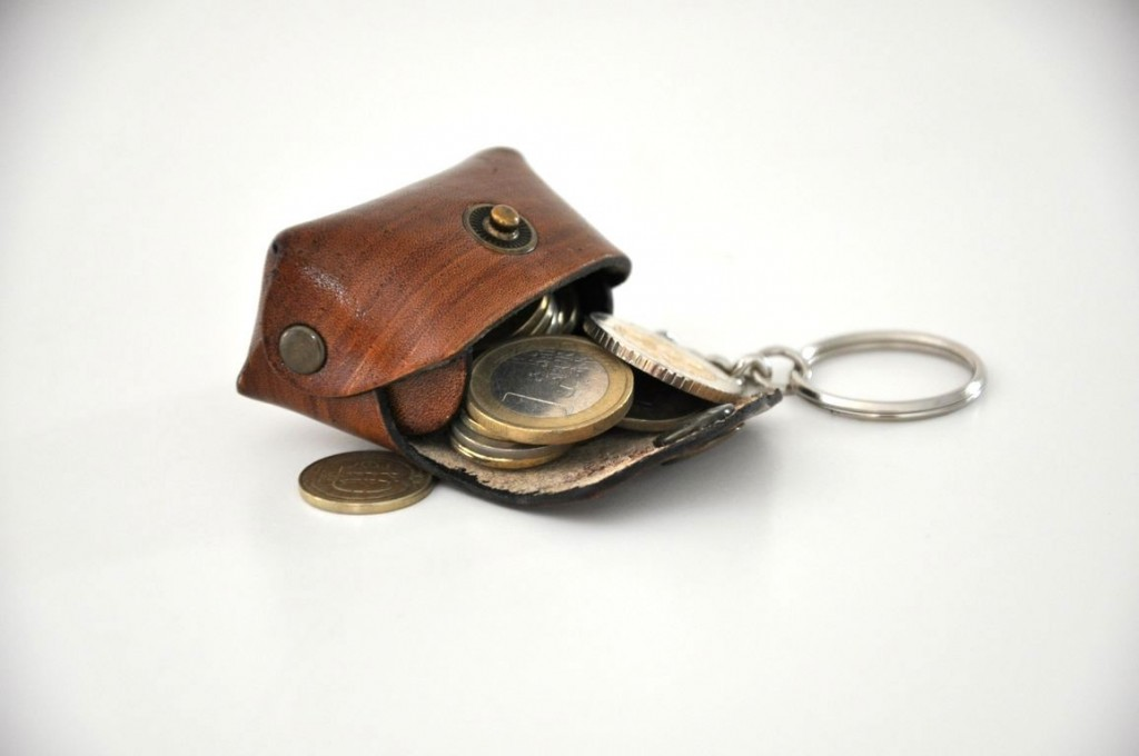 2 Leather Key Chain Key Ring