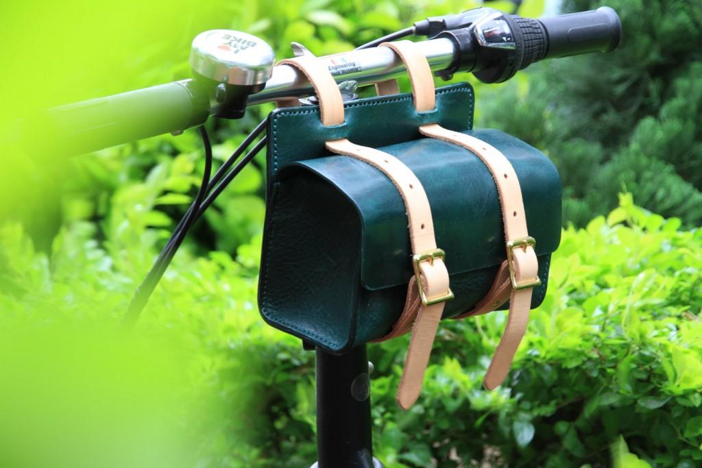 4 Handmade leather bicycle bag
