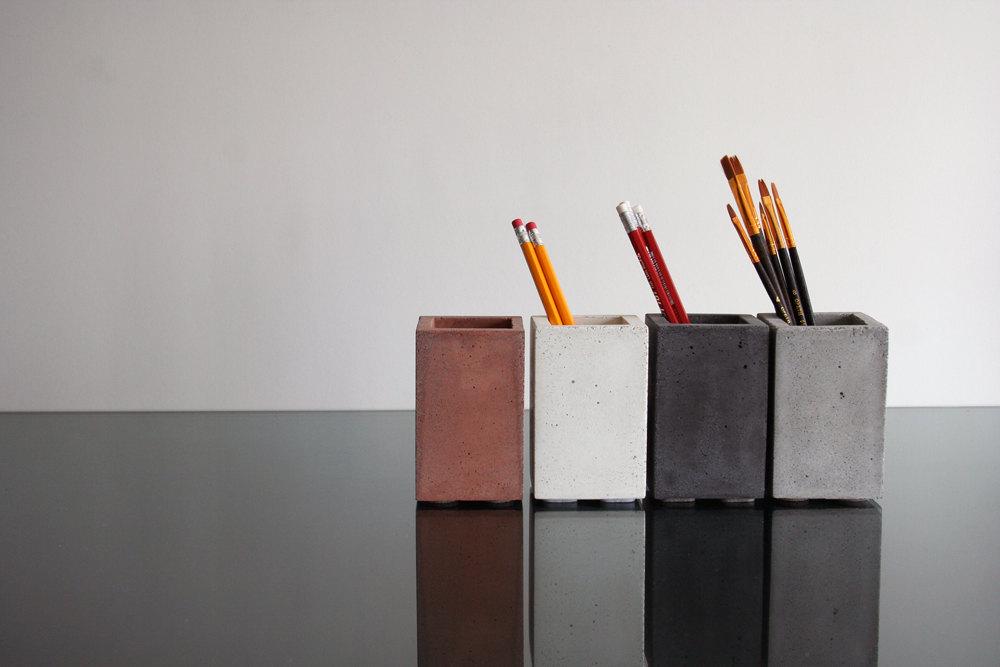 5 Concrete Pencil Holder