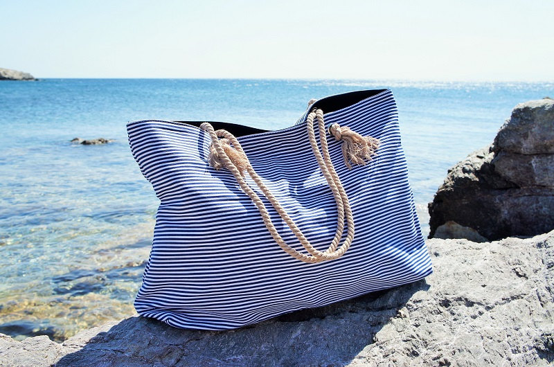 Xl Canvas Beach Bag By Twininas