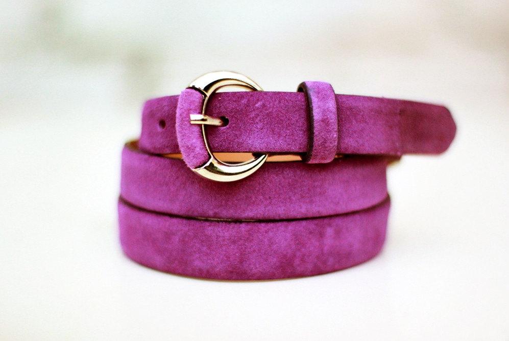 2 suede belt