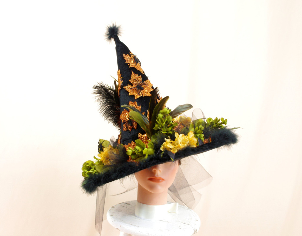 Green Orange and Black Witch Hat