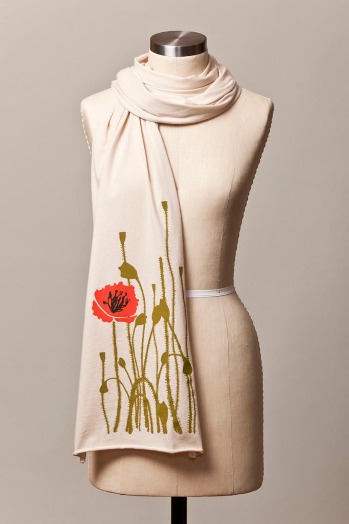 1 poppy scarf