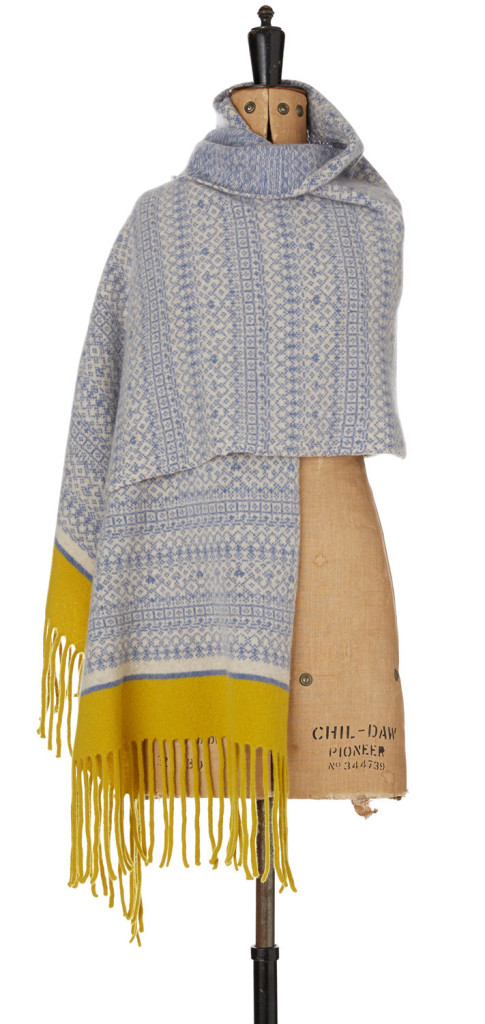 4 Cozy Knitted Fair Isle Fringed Scarf