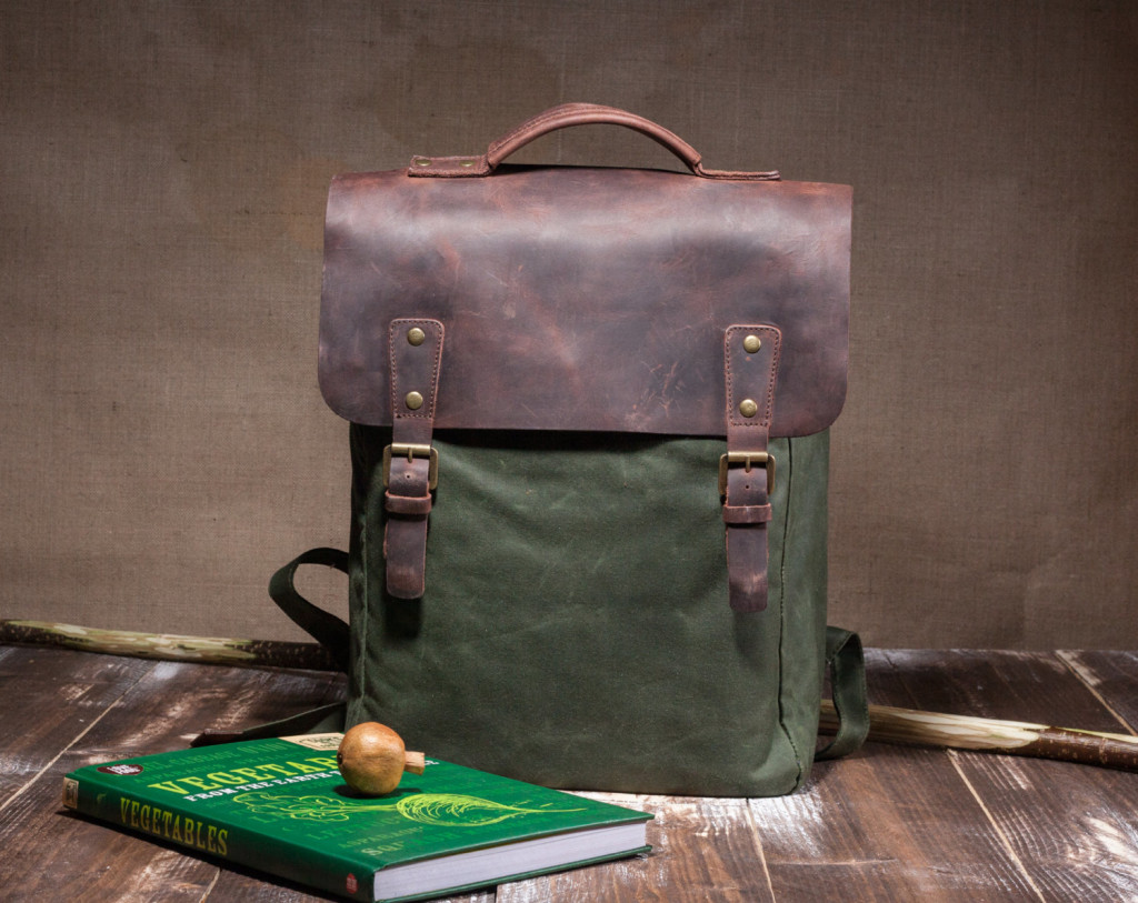 4 Waxed Canvas Backpack