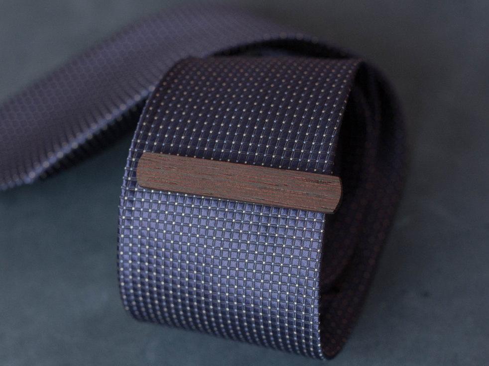4 Wenge Wood Tie Clip