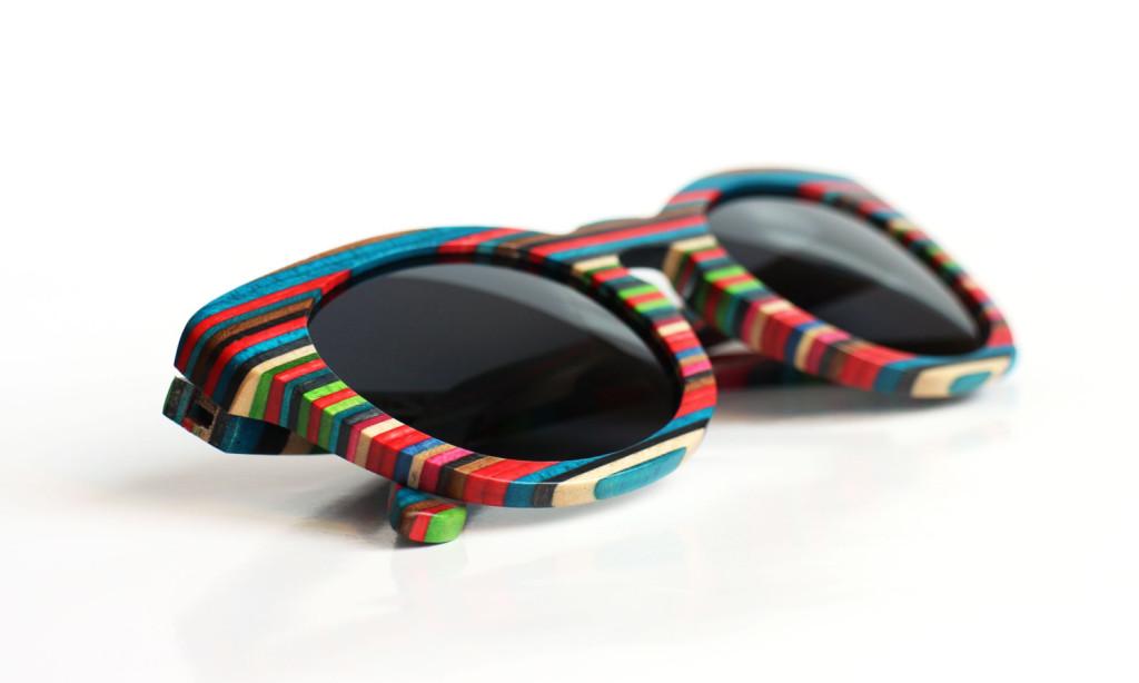 5 Circle Wood Sunglasses