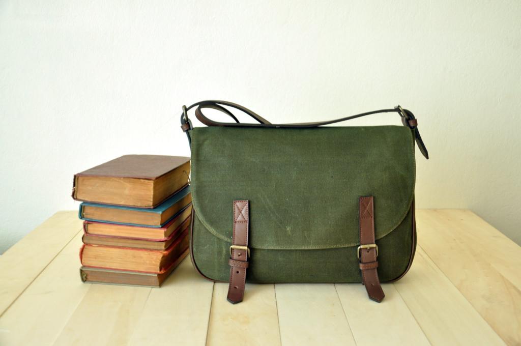5 Waxed Canvas Messenger Bag