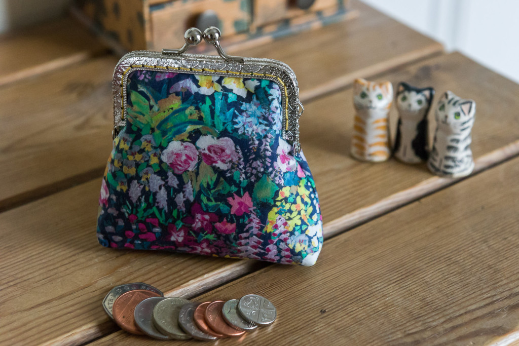 2 Coin purse made with Liberty Tana Lawn in the print