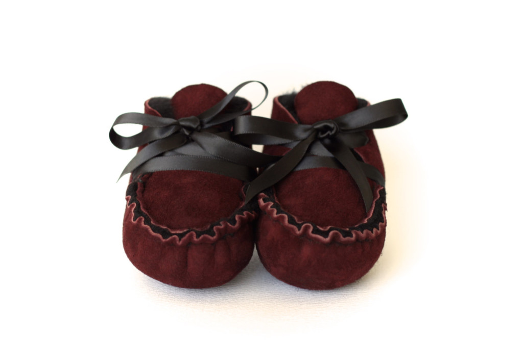 3 Handmade Sheepskin Baby Moccasins