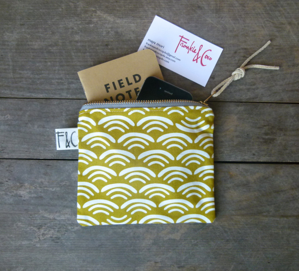 4 Olive Organic Cotton Canvas Zipper Pouch