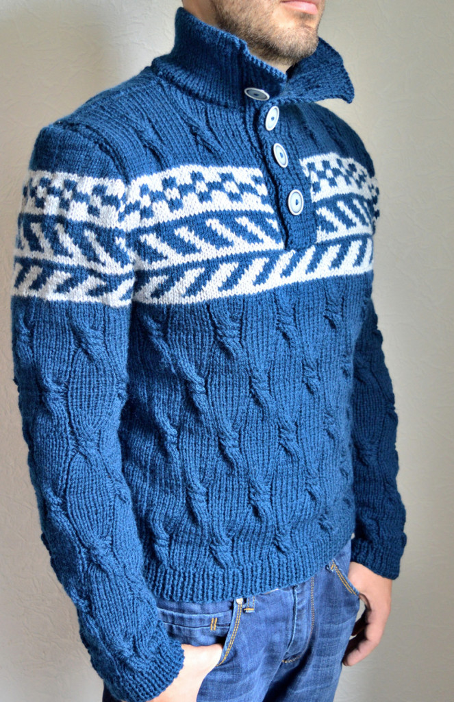 4 hand knitted mens sweater