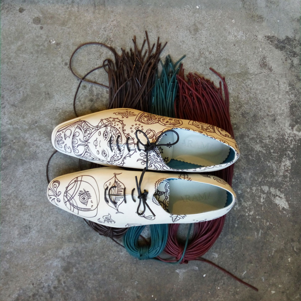 5 Handmade Illustrated Derby Mens shoes