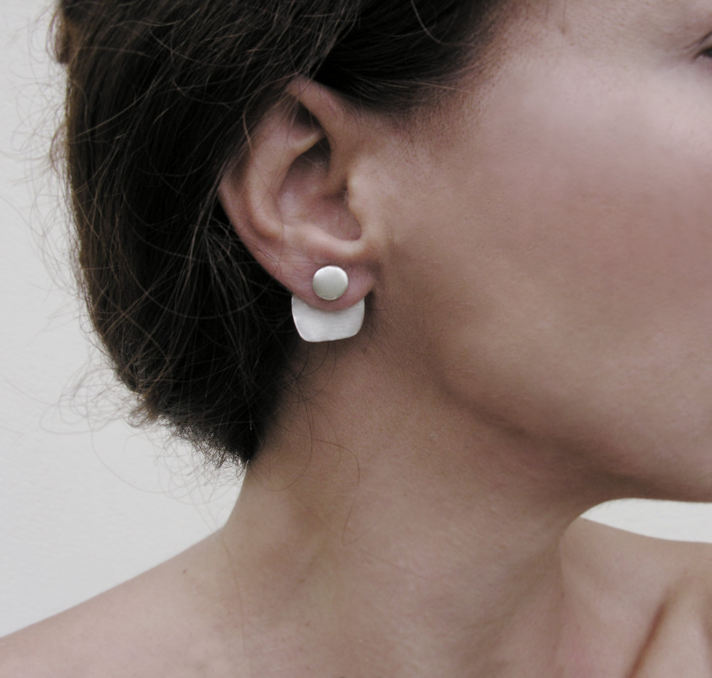 2 Geometric ear jackets