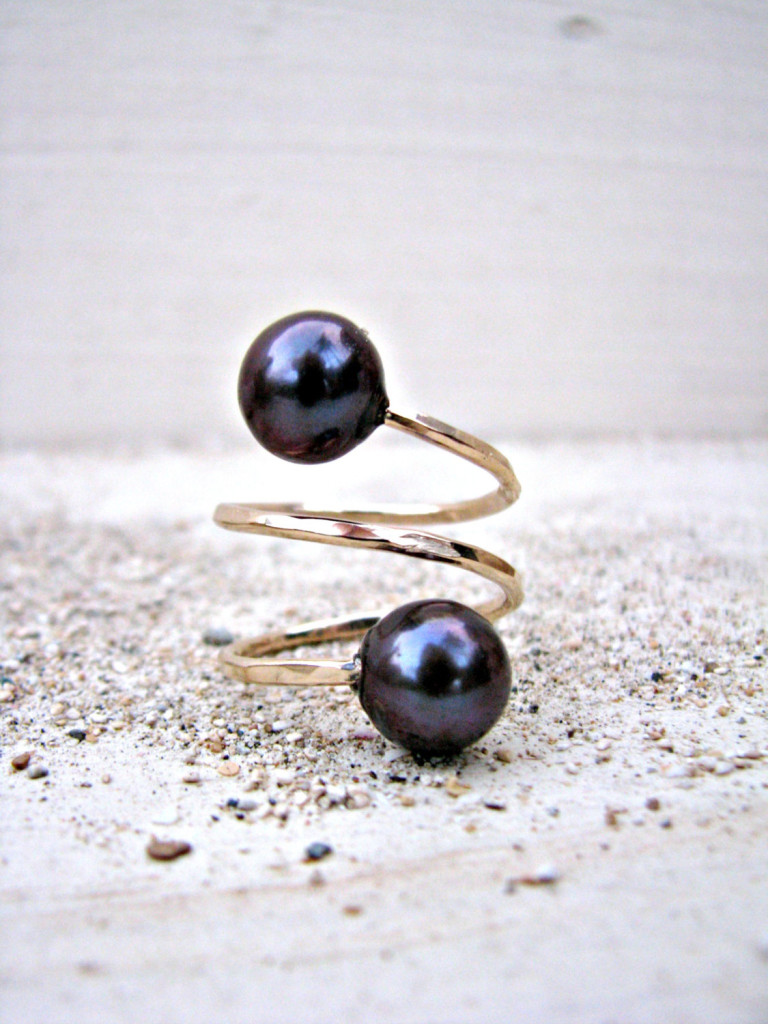 4 Double Pearl Ring