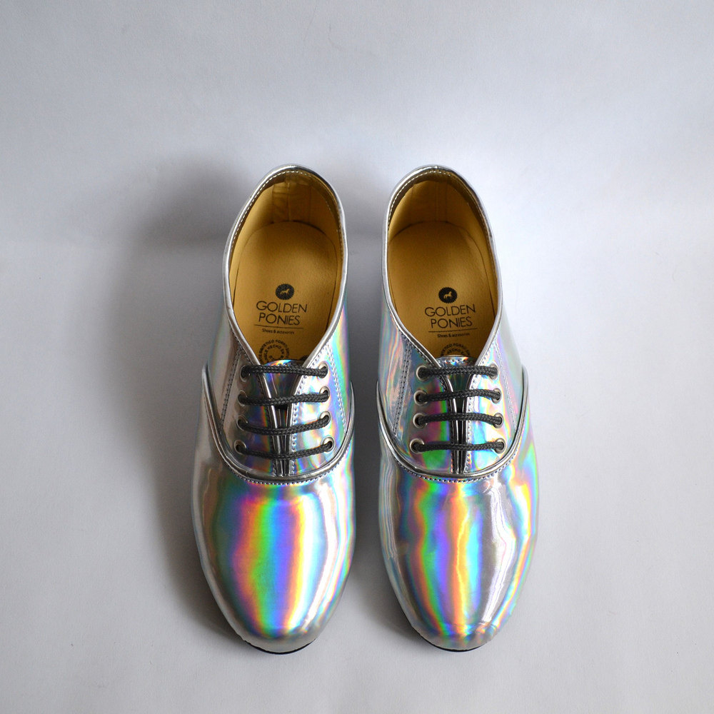 01 mirrored soft holographic shoes