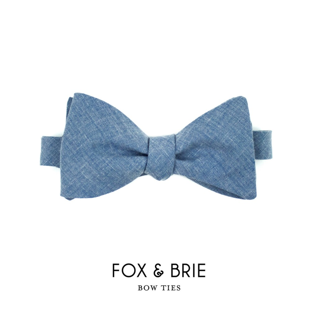 02 Chambray Bow Tie
